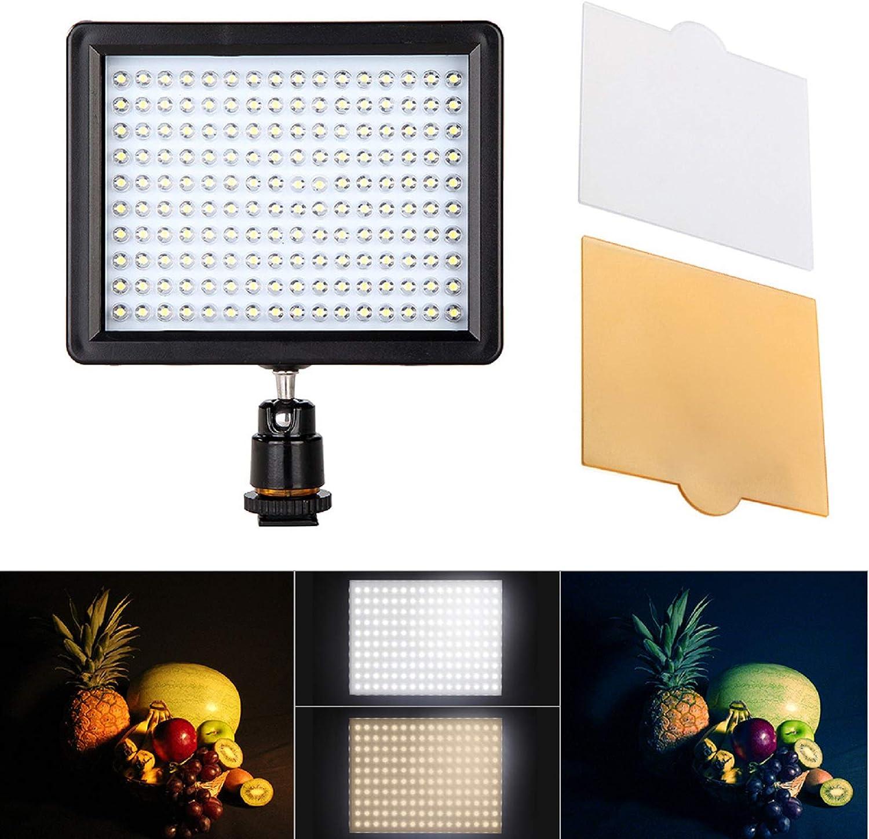 Andoer 160 Led Video Light Lamp Panel 12w 1280lm Kamera