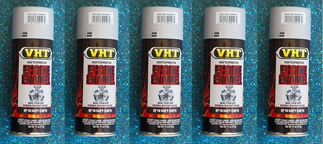 Dupli-Color® VHT SP127 Engine Enamel Universal Aluminum High Temp 11 oz (5)