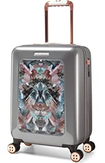 9221184d7380f5 Ted Baker Hardside 21-Inch Lightweight Carry-On Spinner (Silver)