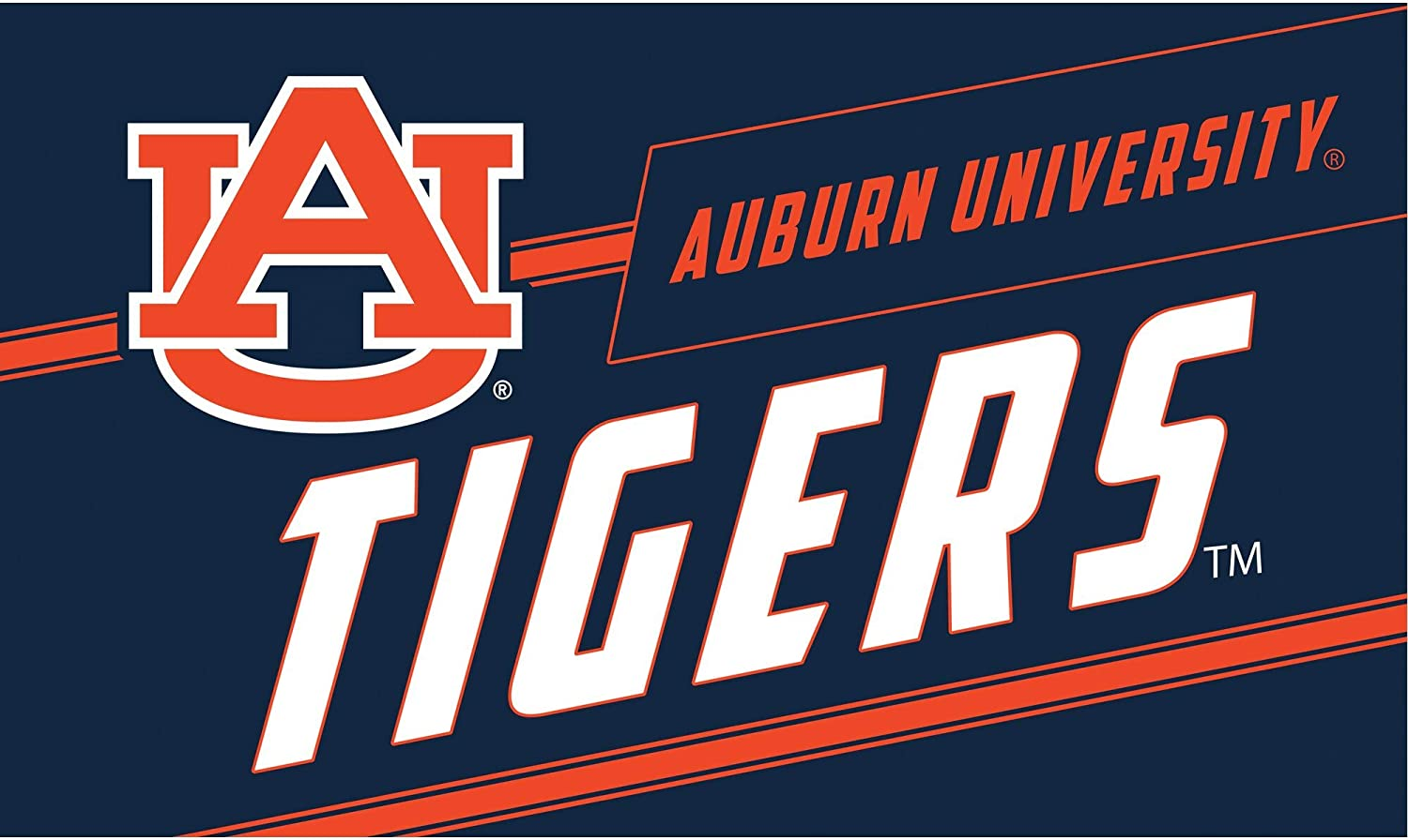 Northwest NCAA Auburn Tigers Worn Out Bath Mat 20 x 30