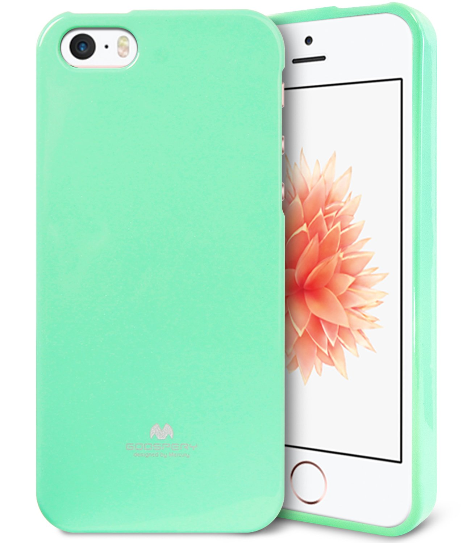 Iphone Se Case 5s 5 Ultra Goospery Pearl Jelly All Type Special  Blue Slim Color Glitter Premium Tpu