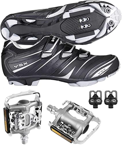 Venzo Mountain Bike Bicycle Cycling Shimano SPD Shoes Multi-Use Pedals