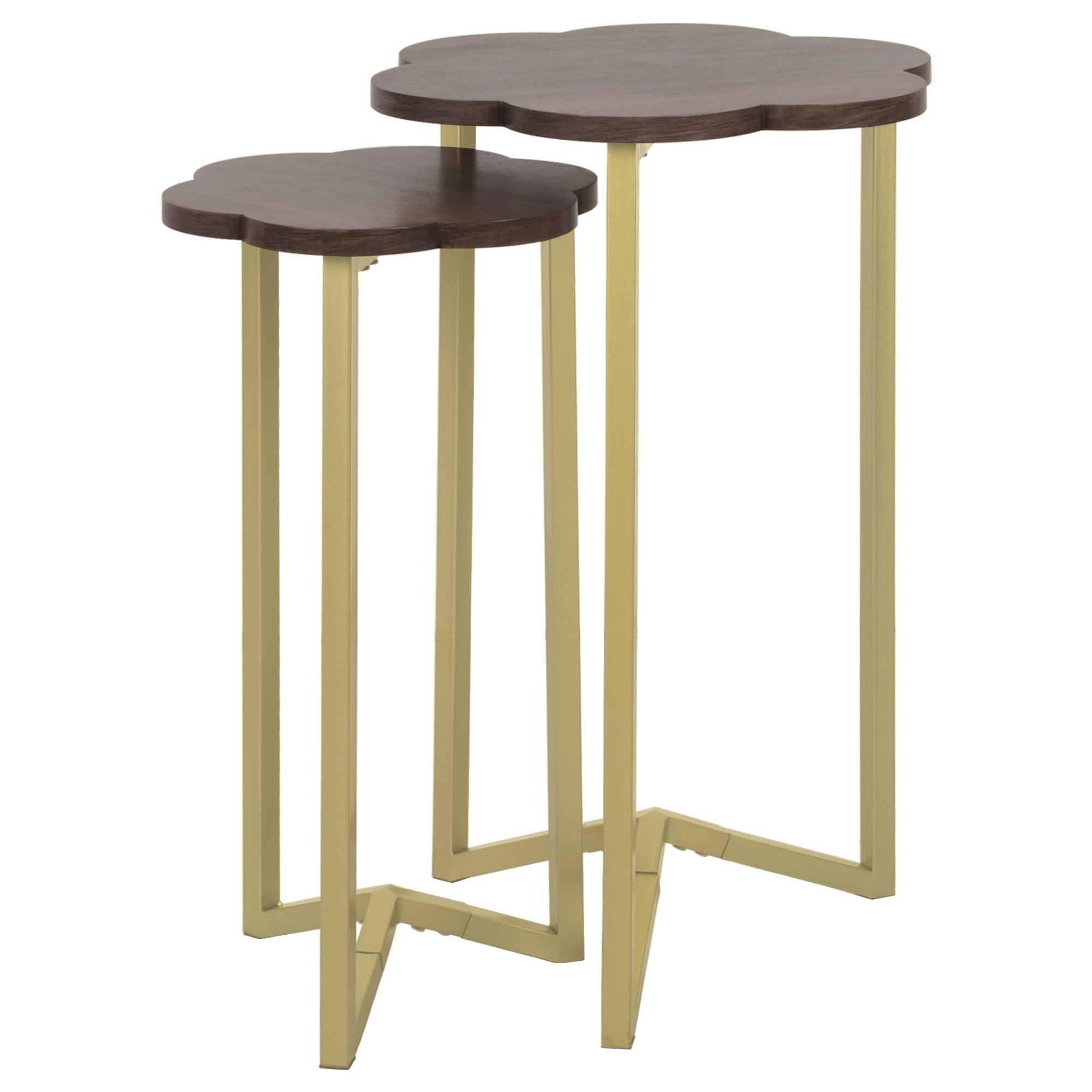 Silverwood FT1263-GLD-RGR Daphne Nesting Accent Tables (2pc), 17'' DIA x 27'' H by Silverwood (Image #2)