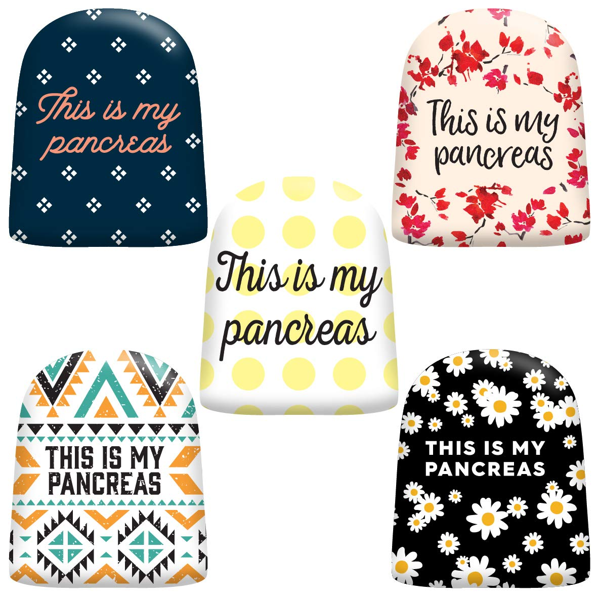 "20 Pack Omnipod Adhesive Stickers - Accessory Patches for Omnipod Insulin Pump -""This is My Pancreas"" Designs"
