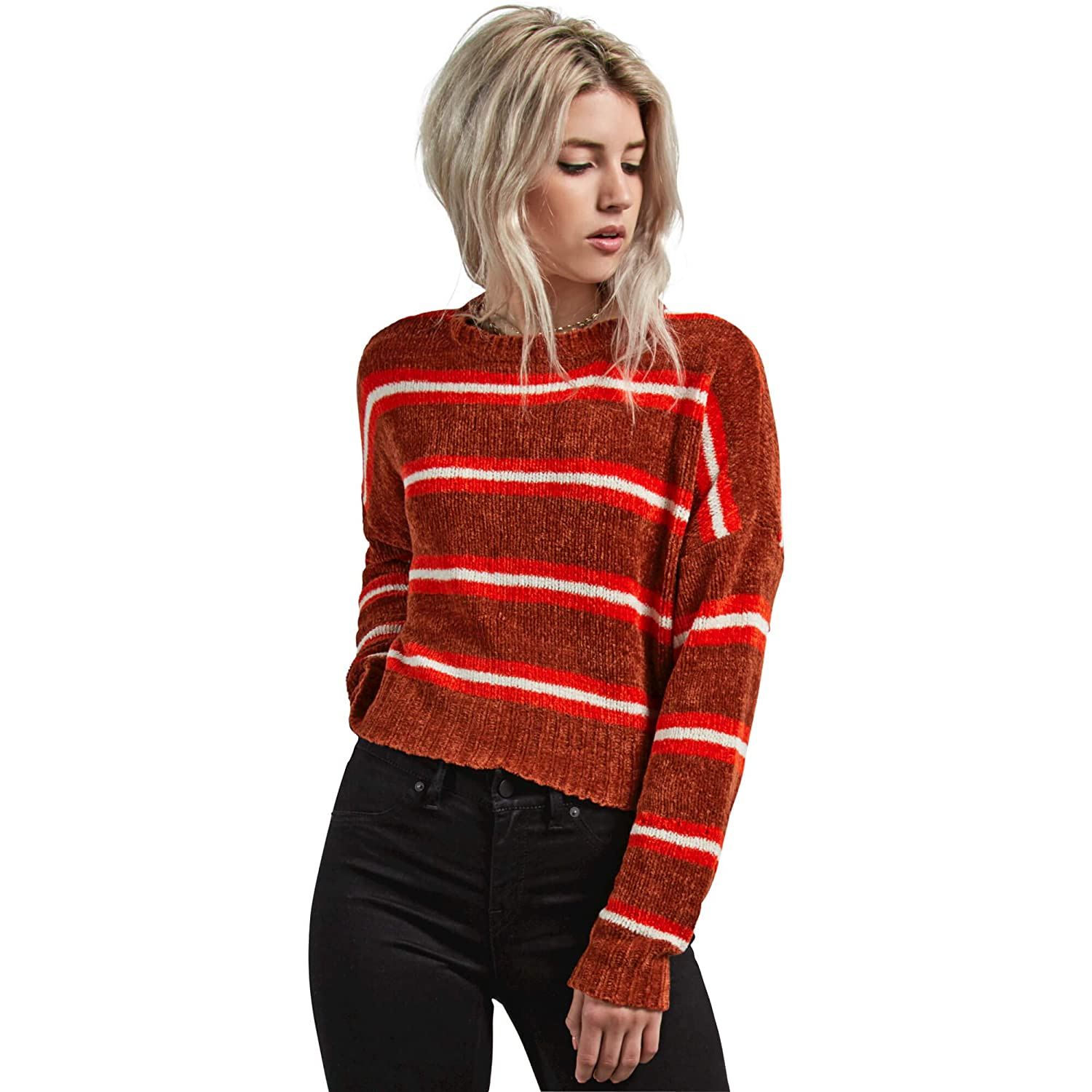 Volcom Womens The Favorite Cropped Crew Neck Sweater