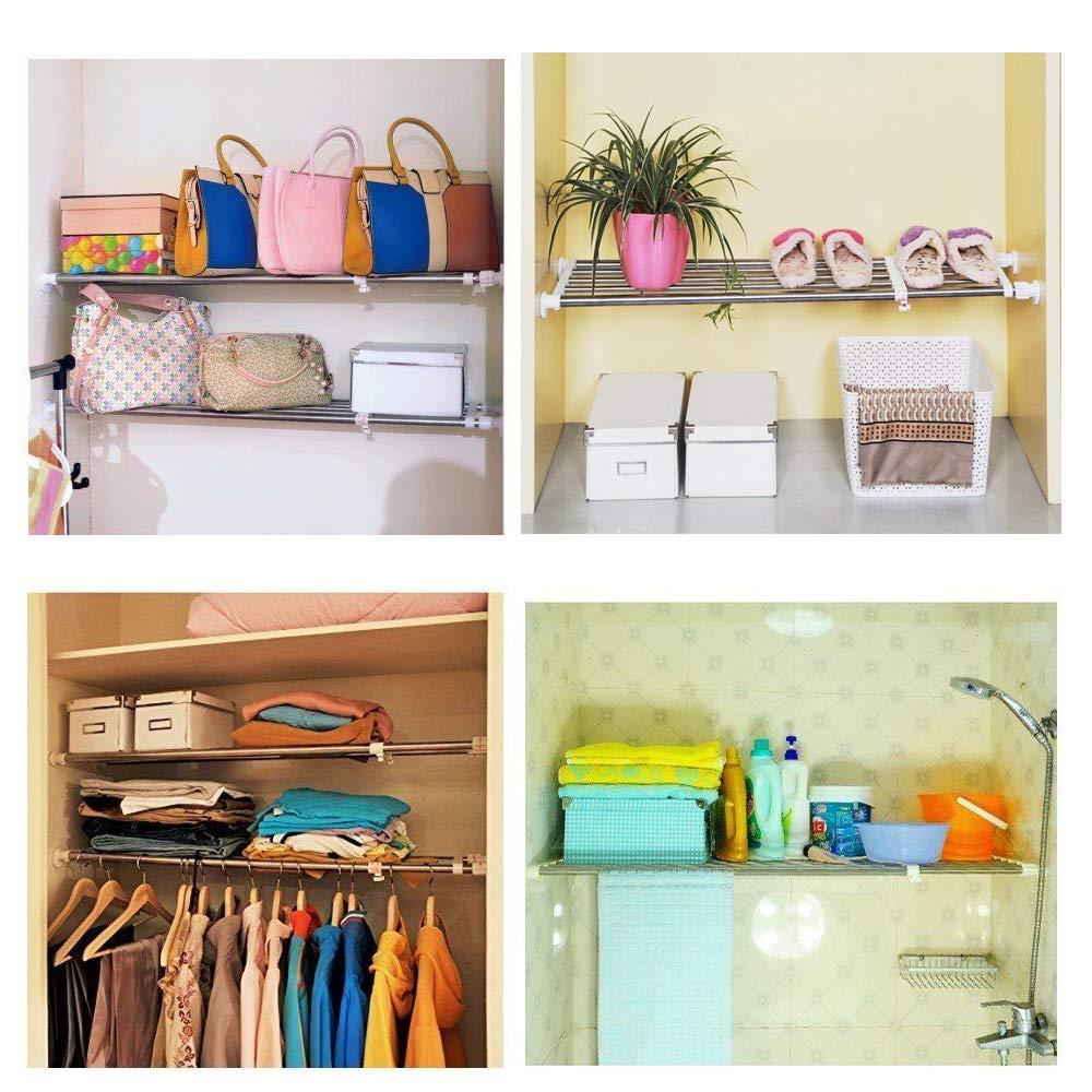 Hot Sale Online Adjustable Shelf Wardrobe Bathroom Kitchen Cupboard Hanging Shelves Rail Extension Scale 63 95cm Customers First Www Misrtalateen Com