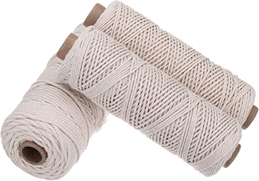Yalulu 3 Unidades de Fuerte algodón 1 mm/2 mm/3 mm Hilo de algodón ...