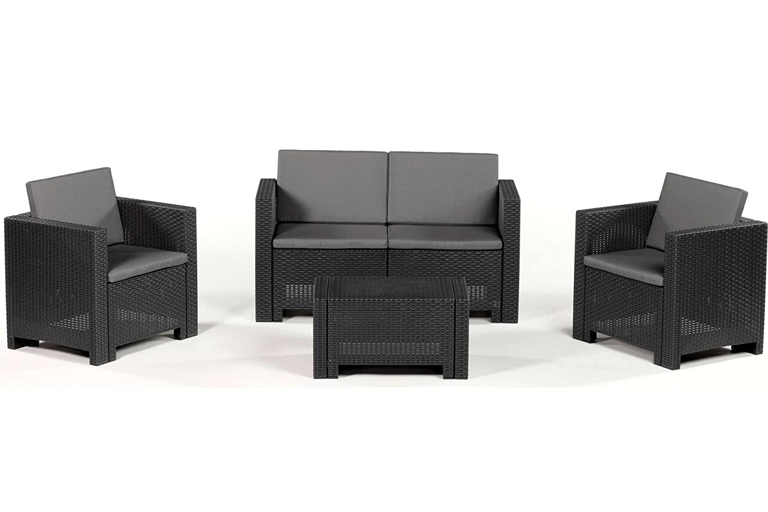 allibert sitzgruppe cannes loungegarnitur poly rattan braun g nstig kaufen. Black Bedroom Furniture Sets. Home Design Ideas