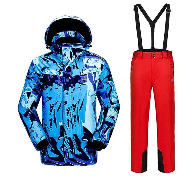 55e46a62c6c Joey Hombre Trajes de esquí Invierno Protección contra el frío Manténgase  abrigado Chaqueta de Traje de montañismo Chaqueta de esquí Doble Chaqueta  de ...