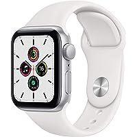 Apple Watch SE (GPS, 40-mm) kast van zilverkleurig aluminium - Wit sportbandje