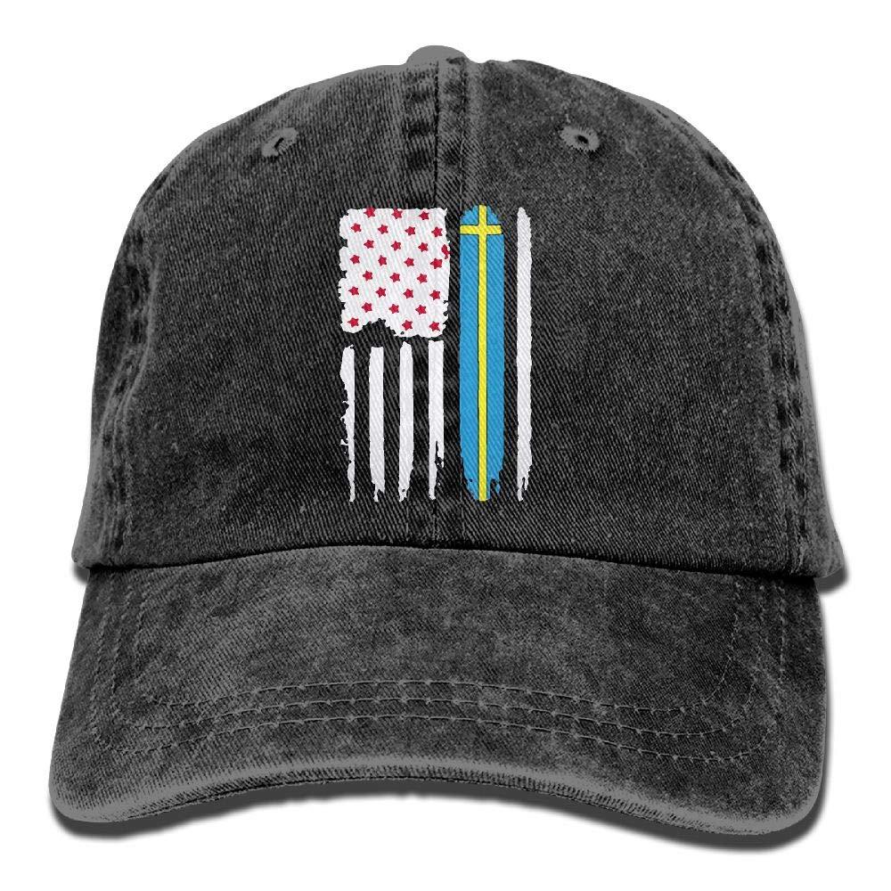 Swedish Pride Mens Casual Sun Hat