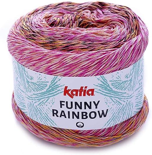 Katia 2019!!! Funny Rainbow - Ovillo de Lana (150 g, 100% algodón ...