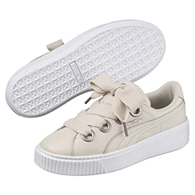 Puma Platform Kiss Leather Sneaker Fashion Shoes Leather Trainers New