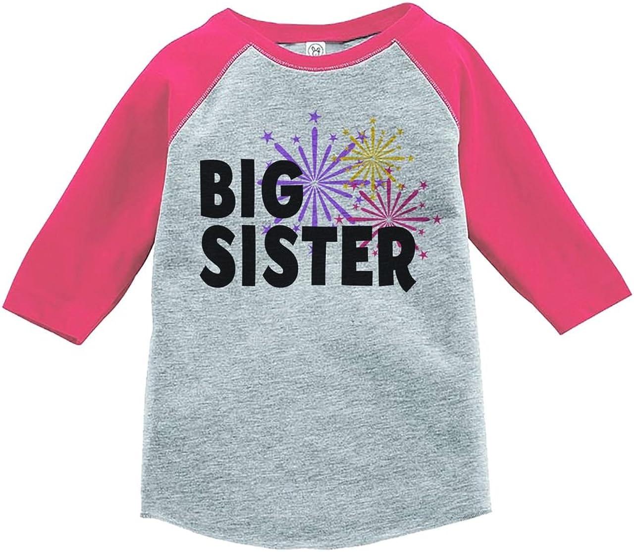 Custom Party Shop Kids Big Sister Happy New Year Raglan Shirt