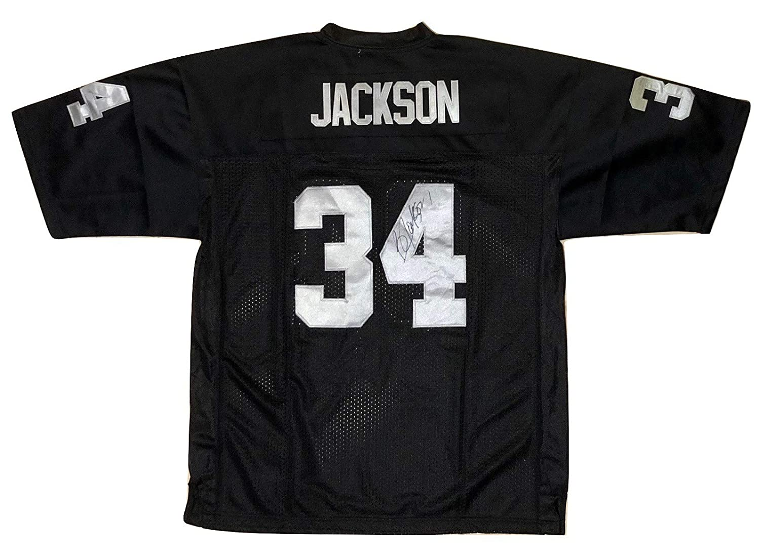 finest selection dda7d ff2f7 BO JACKSON AUTOGRAPHED Hand SIGNED RAIDERS Jersey Replica ...