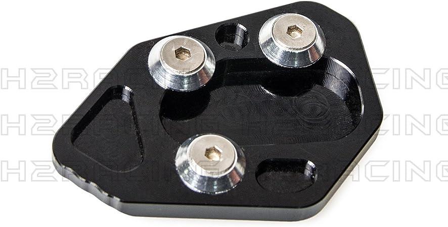 H2racing Schwarz Motorrad Seitenständer Unterstützung Fuß Verbreiterung Ständer Pad Für Hp2 Sport 2008 2010 F800r 2009 2014 R1200s 2006 2008 Auto