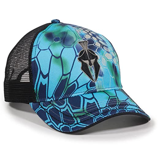 760893bd2ac Image Unavailable. Image not available for. Color  Kryptek Pontus Camo Mesh  Back Spartan Helmet Hat
