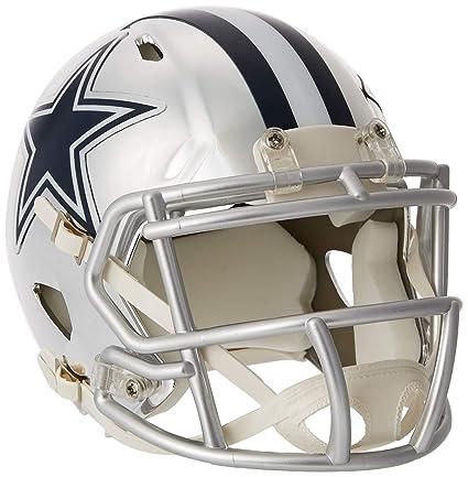 fa7259788109a Riddell - Casco de Cromo alterno NFL Velocidad Autentico Mini tamaño Dallas  Cowboys