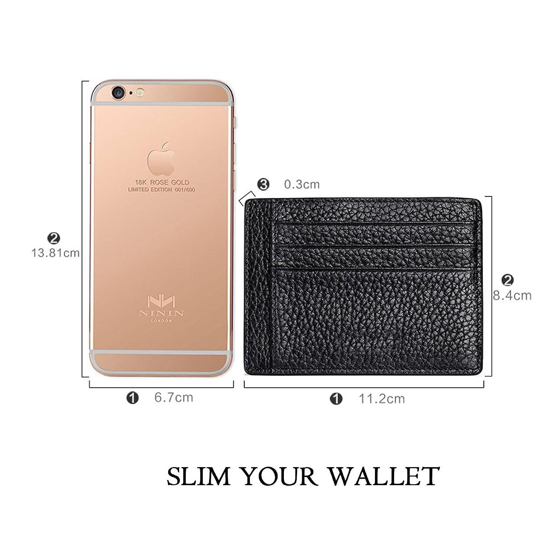 MEKU RFID Blocking Slim Leather Credit Card Holder Business Card
