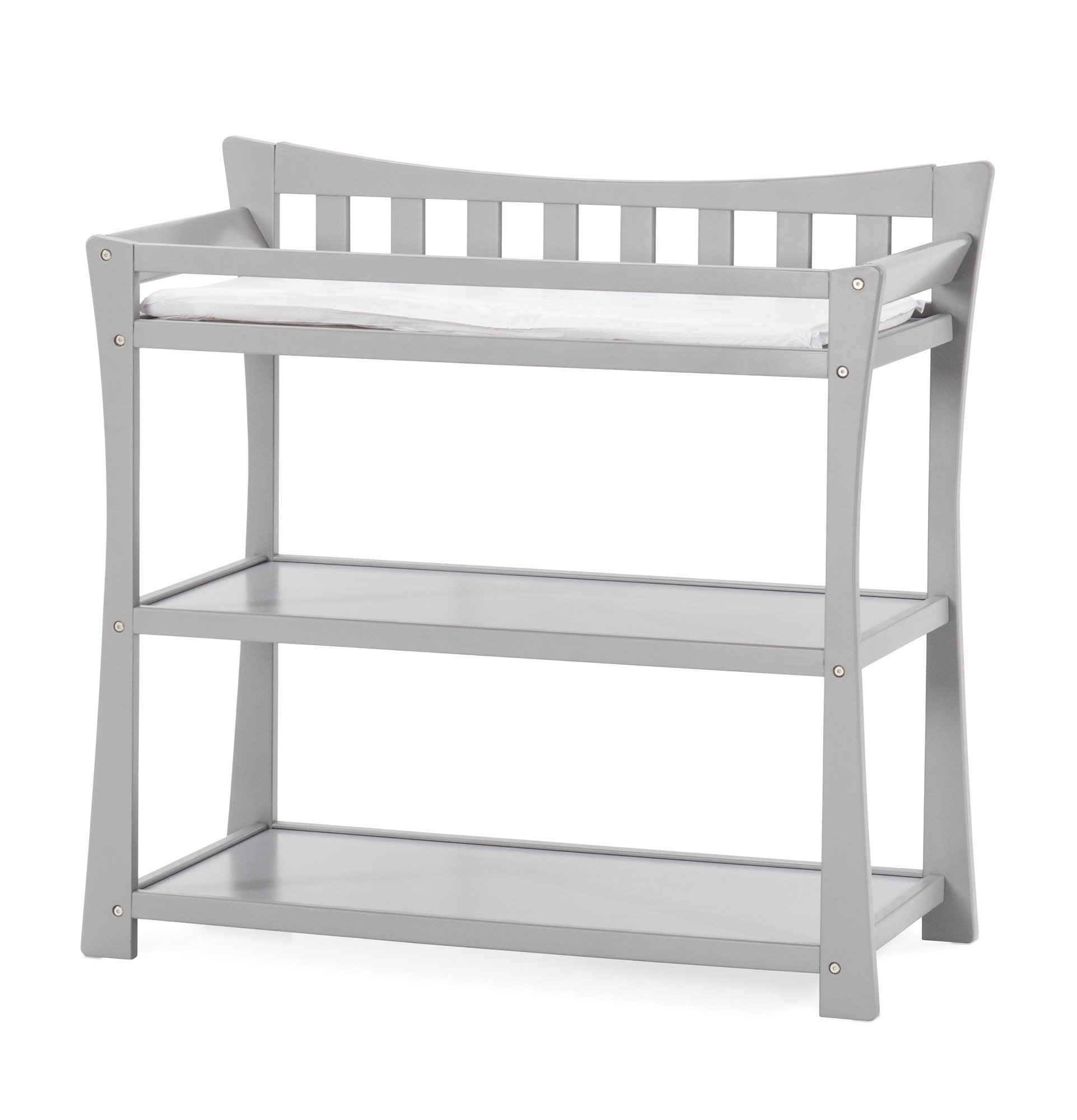 Child Craft Parisian Changing Table with Pad, Cool Gray