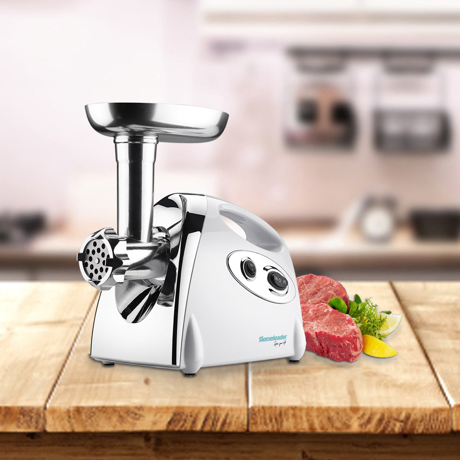 Big Capacity Stainless Steel With 3 Grinding Plates 800w ETL Approved Homeleader Meat Grinder Sausage Maker with Reverse Function