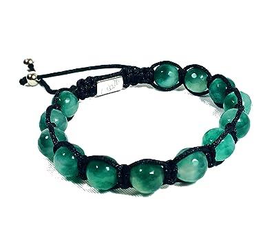 Bracelet Jo.28 - Bracelet élégant avec de véritables perles de jade  transparentes et vertes d543a6ec1c99