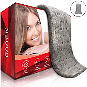 "Heating Pad Heat Pad Shoulder Heating Pad Large Heating Pad 12'' x 24"" Best Heating Pad Electric Heat Pad Pet Heating Pad with auto Shut Off Heat Therapy Ultra Wide Microplush … (Gray)"