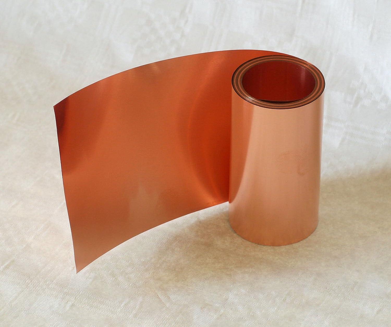 Copper Strip, 0.1 X 150 mm 2.5 m Roll 0.1X 150mm 2.5m Roll Blechmaennle