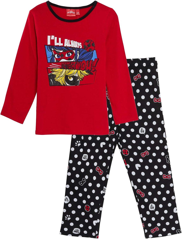 Miraculous Conjunto de pijama de mariquita para niñas de longitud completa