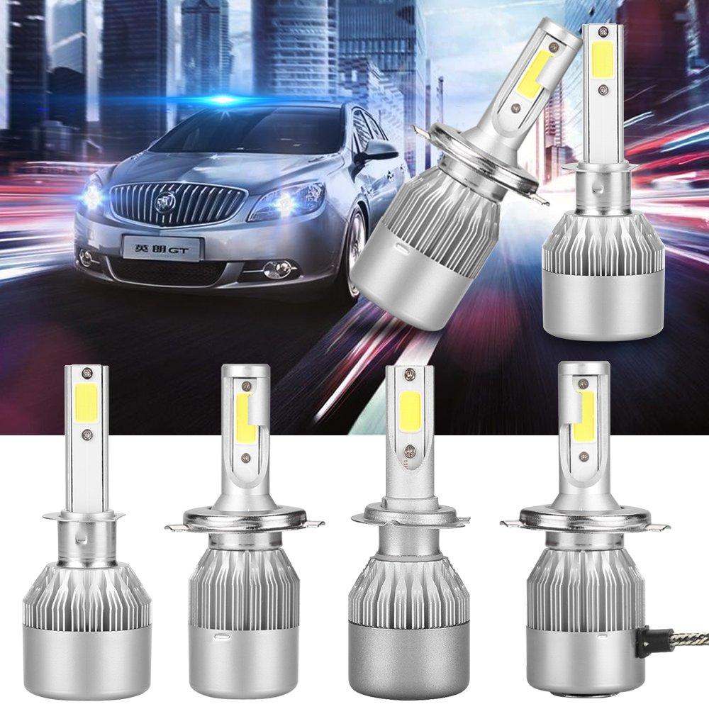AGM LED C6 H7 Luces Delanteras del Coche (Low Beam), 36W Alta Potencia LED COB Bombillas para Faros Delanteros, 2pcs/paquete