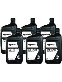 AmazonBasics Conventional Motor Oil, 10W-30, 1 Quart, 6 Pack