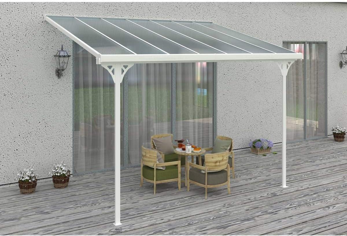 habitatetjardin Toldo para jardín en Aluminio - Lucia - Blanco ...