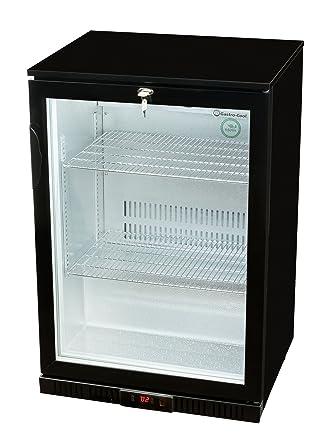Glastür-Kühlschrank 90 x 60 x 52 cm schwarz | Getränkekühlschrank ...