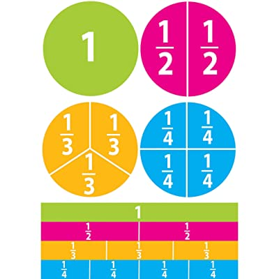 Ashley Productions Beginning Fractions Math Die-Cut Magnet: Toys & Games