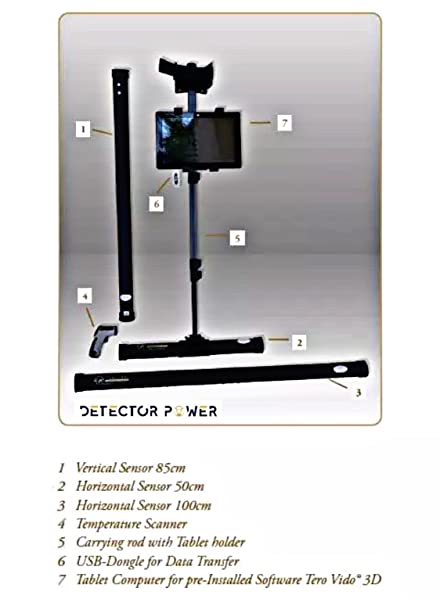 Amazon.com : TERO VIDO PRO Version 3D System Metal Detector - Professional Deep Seeking Detector | Underground Depth Scanner | Gold, Silver, Coins, Jewelry, ...
