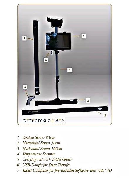 Amazon.com : TERO VIDO PRO Version 3D System Metal Detector - Professional Deep Seeking Detector   Underground Depth Scanner   Gold, Silver, Coins, Jewelry, ...