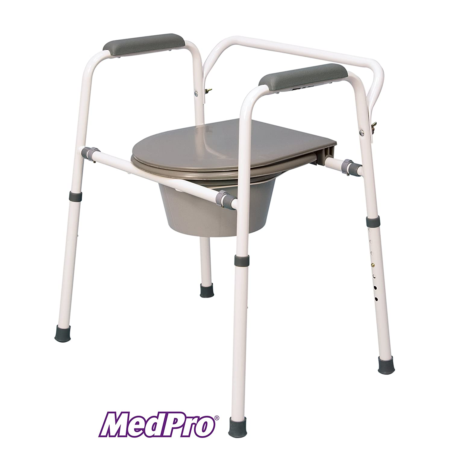 Amazon.com: MedPro Homecare Commode Chair with Adjustable Height ...