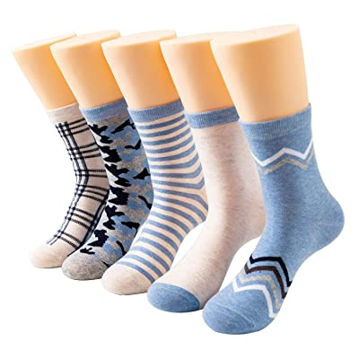 Awesome 360 Women's 5-Pack Casual Socks, Sky Blue Assorted, A3-03-WS-019: Clothing