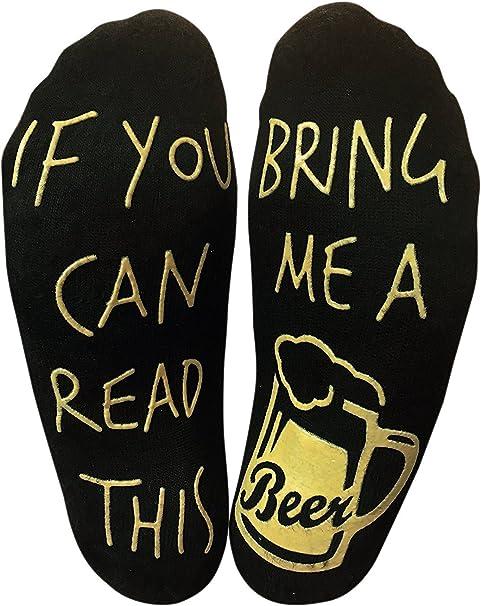 Beer Socks X2 Pairs Ladies//Girls//Boys Low Ankle Novelty Christmas Secret Santa