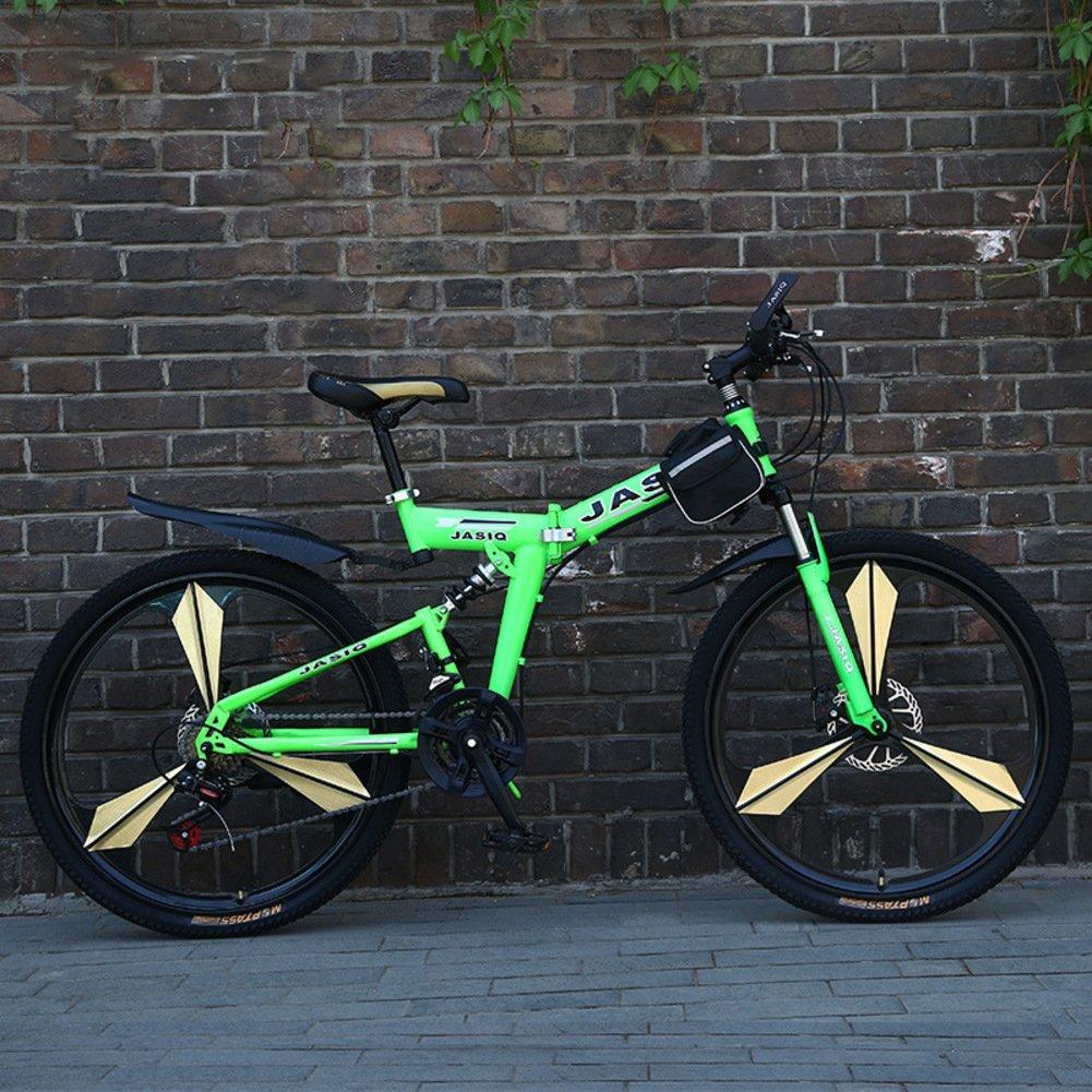登山 折りたたみ自転車, 大人 折りたたみ自転車 21 速度 生ギフト 折りたたみ自転車 B07D35347J 26inch|緑 緑 26inch