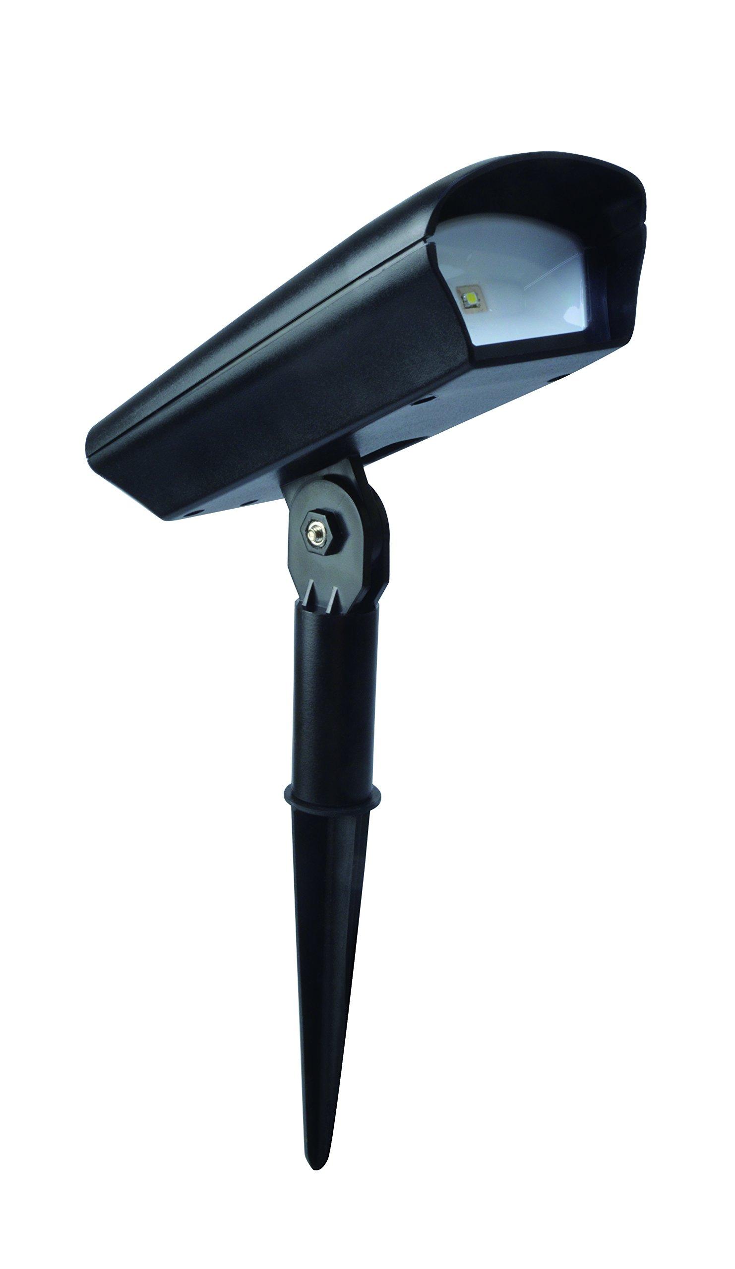 Moonrays Solar LED Landscape Spotlight and Flood Light (20 Lumens, Black)
