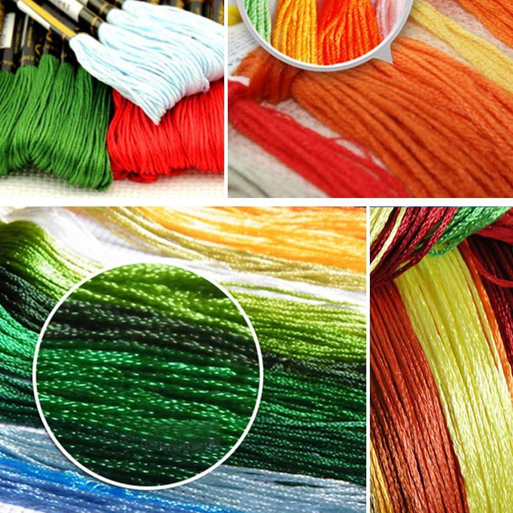 Eizur DIY Handmade Needlework Punto Croce primo bacio Ricamo Kit Precisa Stampato decorazione domestica Taglia 32*40cm--Senza Borsa degli attrezzi