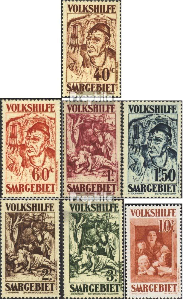 Prophila Collection Saarland 144-150 (kompl.Ausg.) geprüft 1931 Volkshilfe: Gemälde (III) (Briefmarken für Sammler) Malerei