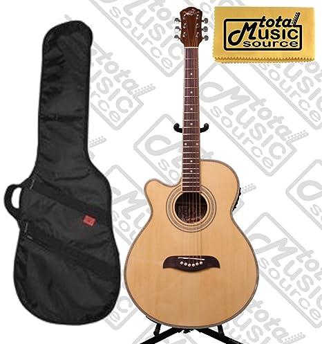 Oscar Schmidt mano izquierda Guitarra Acústica/eléctrica w/Kaces ...
