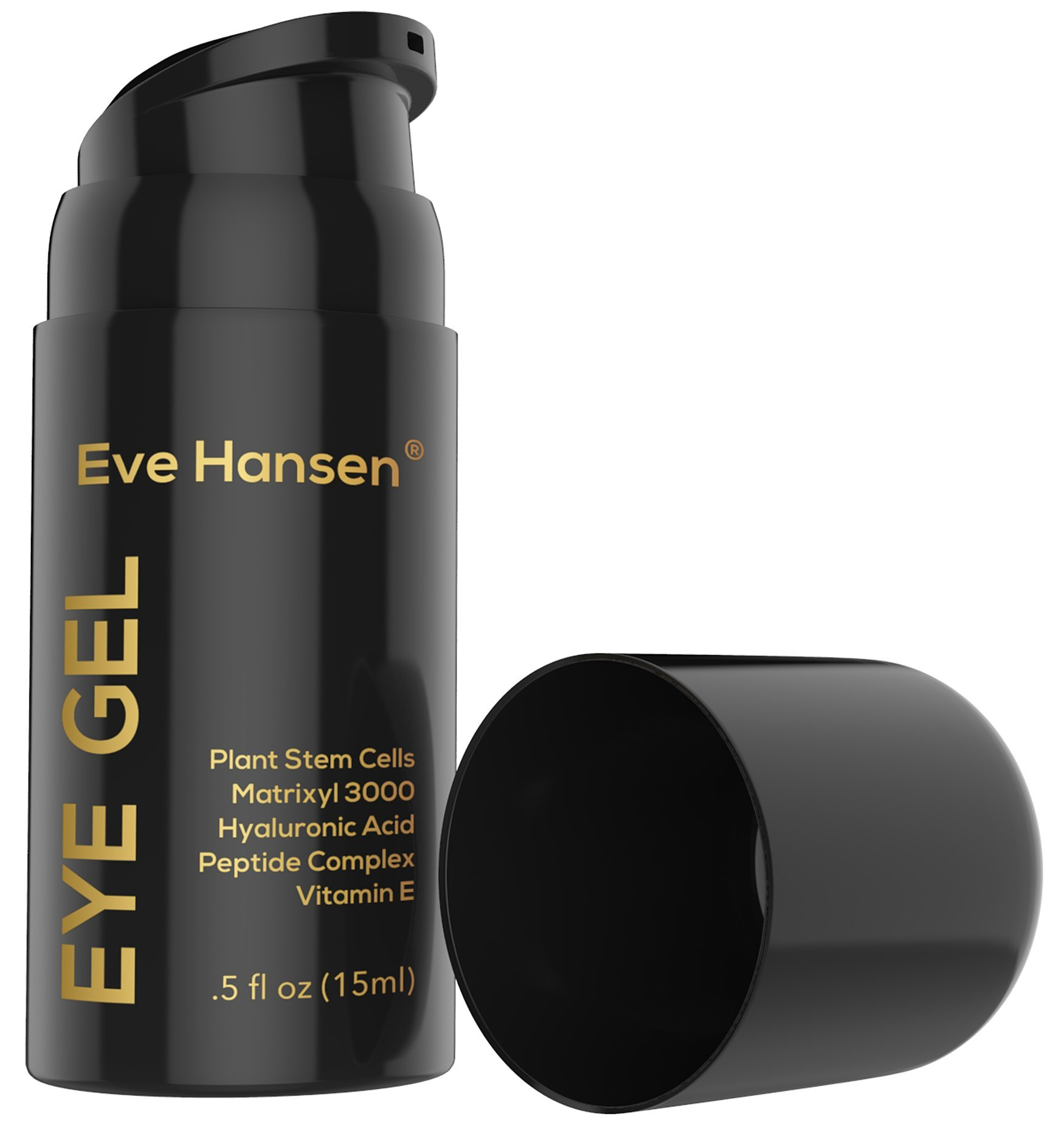 Moisturizing Hyaluronic Eye Gel with Matrixyl 3000, Plant Stem Cells, Peptide Complex - Anti Aging Eye Gel Treatment With Ingredients. Reduce the Appearance of Dark Circles and Puffiness - .5 Ounce