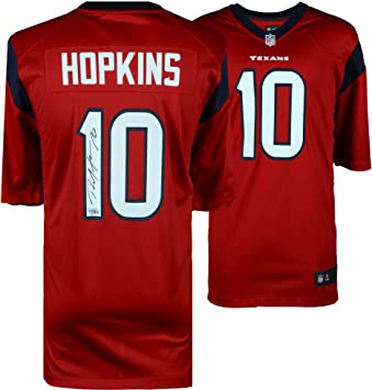 promo code 9f3ca e2b41 DeAndre Hopkins Houston Texans Autographed Nike Red Game ...