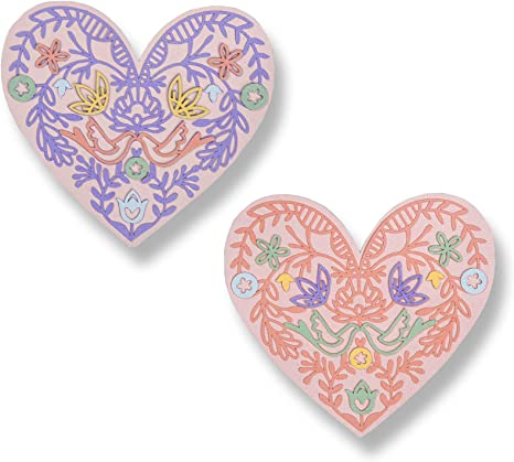 Sizzix die-cuts x 20 double hearts