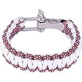 DonDon Bracelet homme Survival Outdoor Nylon tressé // plusieurs couleurs disponibles