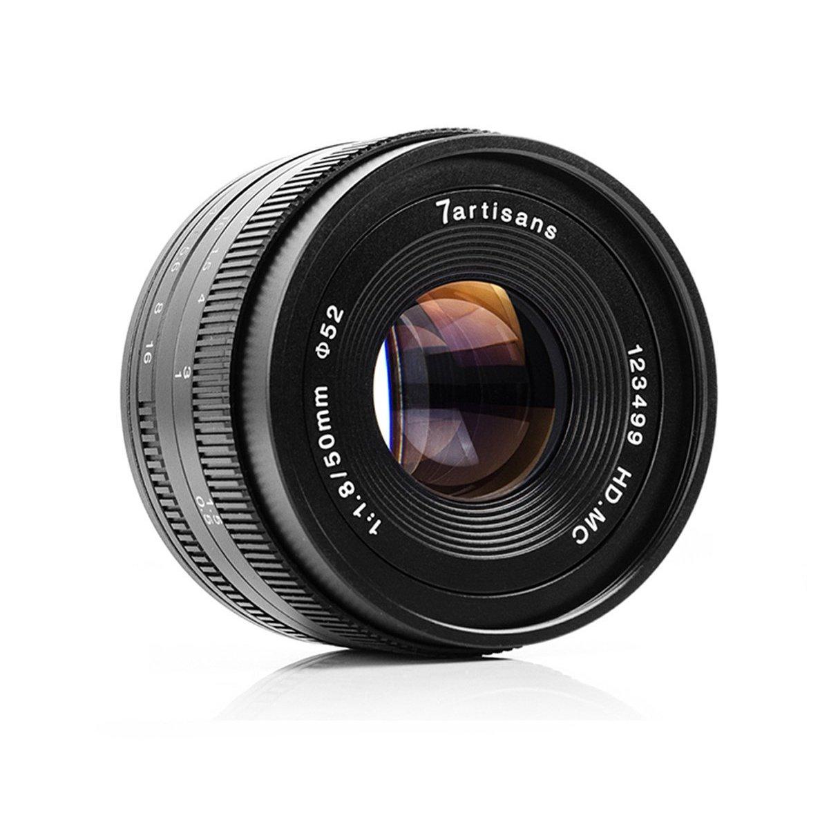 7artisans 50mm F1.8ソニーA6500 A6300 A6000 A5100 A5000 NEX-3 NEX-3N NEX-3R NEX-C3 NEX-F3KのようなソニーEマウントミラーレスカメラ用APS-C手動固定レンズ   B07FML5MY9