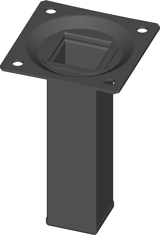 Element System 18133-00287 Pie para muebles, Negro, 10 cm
